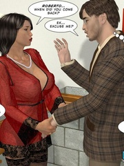 Busty dark haired stunner gives and awesome - Cartoon Sex - Picture 7