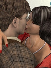 Busty dark haired stunner gives and awesome - Cartoon Sex - Picture 10