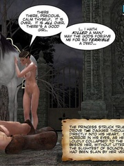 Big boobed 3d princess and her lover making - Cartoon Sex - Picture 3