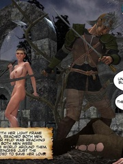 Big boobed 3d princess and her lover making - Cartoon Sex - Picture 6