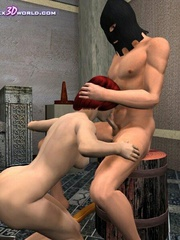 Busty 3d bimbo gets banged hard in medieval - Cartoon Sex - Picture 6