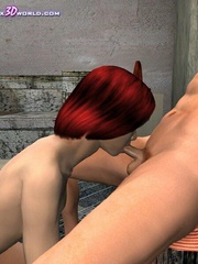 Busty 3d bimbo gets banged hard in medieval - Cartoon Sex - Picture 7