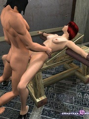 Busty 3d bimbo gets banged hard in medieval - Cartoon Sex - Picture 10