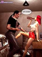 Horny 3d redhead chick willingly sucking nad - Cartoon Sex - Picture 3