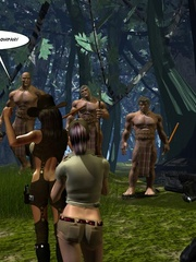 Horny tribe men sharing busty sex hungry - Cartoon Sex - Picture 1