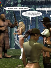Horny tribe men sharing busty sex hungry - Cartoon Sex - Picture 2