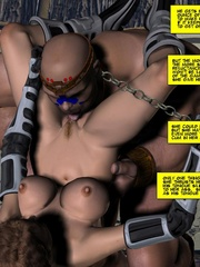 Horny tribe men sharing busty sex hungry - Cartoon Sex - Picture 12