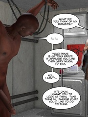 Captured black guy gets his huge meat pleased - Cartoon Sex - Picture 4