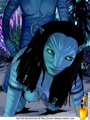 Sex starving toon couple from Avatar trying - Cartoon Sex - Picture 3