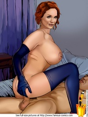 Redhead toon bimbo Christina Hendricks is a - Cartoon Sex - Picture 3