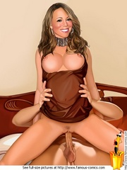 Big boobed toon celebrity Mariah Carey riding - Cartoon Sex - Picture 3
