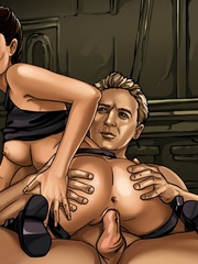 Big boobed toon Tomb Raider heroine riding - Cartoon Sex - Picture 1