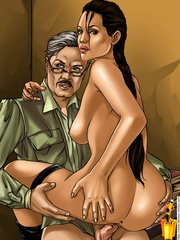 Big boobed toon Tomb Raider heroine riding - Cartoon Sex - Picture 2