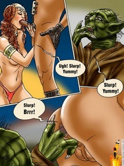 Xxx Star Wars cartoon pics of lusty princess - Cartoon Sex - Picture 6