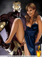 Nasty toon Iron Man fucking his girlfriend's - Cartoon Sex - Picture 2