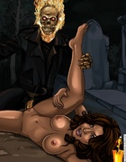 Sex hungry Ghost Rider cartoon heroine like sex…