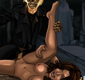 Sex hungry Ghost Rider cartoon heroine like sex and even doublepenetration.