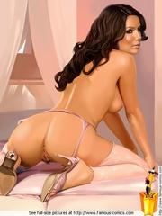Adorable cartoon babe Eva Longoria enjoying - Cartoon Sex - Picture 1