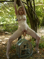 Her pussy is being pierced by a sex machine. - Unique Bondage - Pic 10