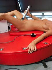 Hot babes know how to use a sex machine. - Unique Bondage - Pic 10