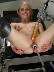 Mechanical fucking  machines ad hot blondes - Unique Bondage - Pic 2