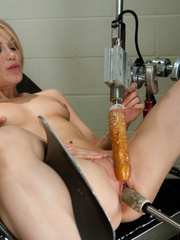 Mechanical fucking  machines ad hot blondes - Unique Bondage - Pic 4