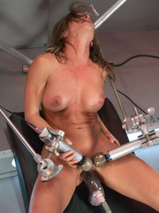 Hooked up to hardcore fucking machines for - Unique Bondage - Pic 3