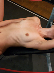Young pussy trying on a vibrating sex - Unique Bondage - Pic 13
