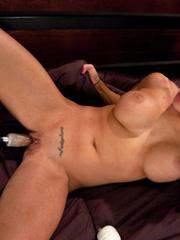 Huge blue dildo machine into her pussy. - Unique Bondage - Pic 12