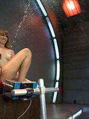 Lesbians trying different sex machines and - Unique Bondage - Pic 14