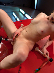Lesbians trying different sex machines and - Unique Bondage - Pic 15