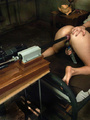 She receives a big dildo machine for her - Picture 9