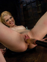 She pees while the sex machine continues - Unique Bondage - Pic 8