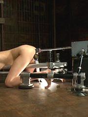 She pees while the sex machine continues - Unique Bondage - Pic 12