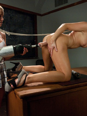 Hot schoolgirls getting fucked with dildo - Unique Bondage - Pic 5