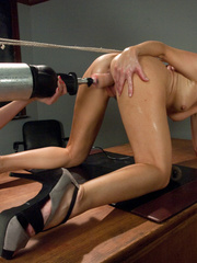 Hot schoolgirls getting fucked with dildo - Unique Bondage - Pic 9