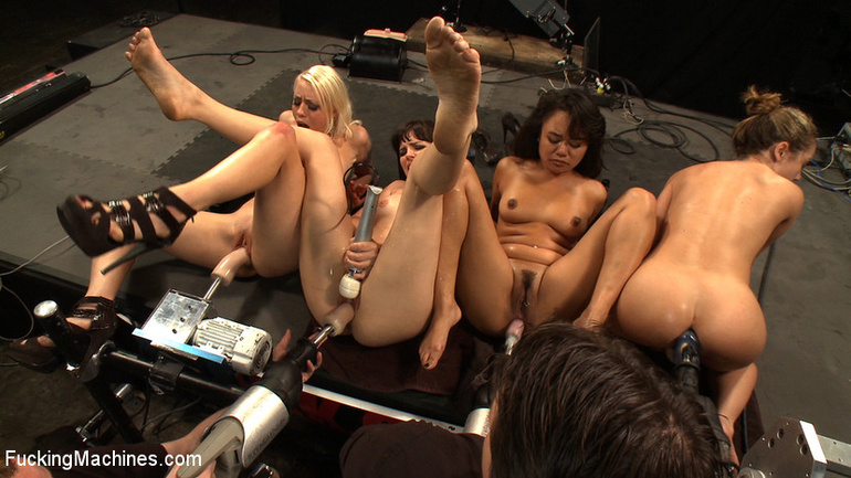 Orgy with fucking machines. Tags: women - Unique Bondage - Pic 1