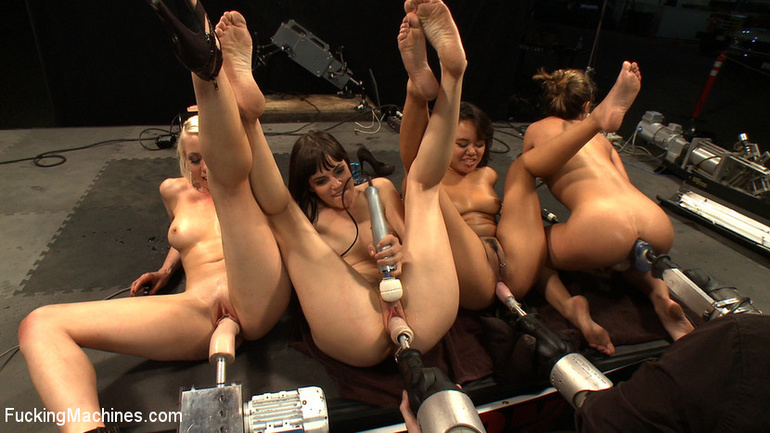 Orgy with fucking machines. Tags: women - Unique Bondage - Pic 13