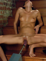 She reaches her best orgasm ever using a - Unique Bondage - Pic 5