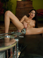 She reaches her best orgasm ever using a - Unique Bondage - Pic 6