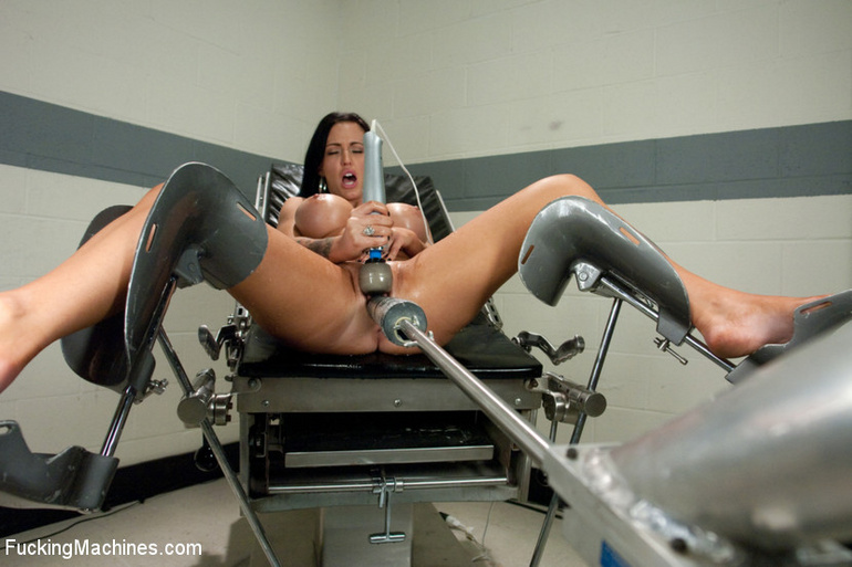 Strong squirting after fucking herself with - Unique Bondage - Pic 3