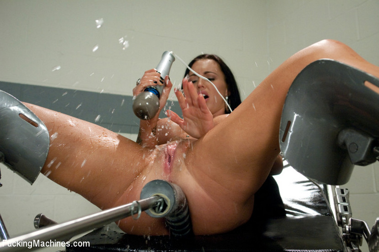 Strong squirting after fucking herself with - Unique Bondage - Pic 6