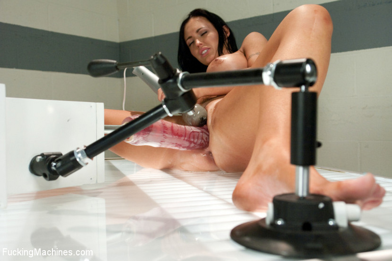 Strong squirting after fucking herself with - Unique Bondage - Pic 9