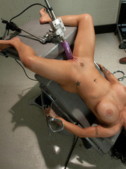 Busty babe squirts from using mechanical - Unique Bondage - Pic 9