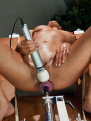 Young babe using fucking machines for the - Unique Bondage - Pic 7