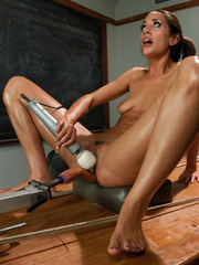 Young babe using fucking machines for the - Unique Bondage - Pic 10