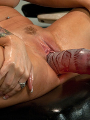 Huge Dildo fucking machines make her pussy - Unique Bondage - Pic 14