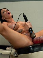 Huge Dildo fucking machines make her pussy - Unique Bondage - Pic 15
