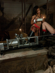 The tongue sex machine gives this blonde her - Unique Bondage - Pic 8