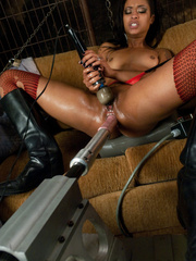 The tongue sex machine gives this blonde her - Unique Bondage - Pic 12